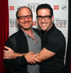 Ben Rimalower and Lonny Price at the opening night performance of BAD WITH MONEY at the Duplex.