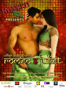 Hypokrit Theatre Company's inaugural production is Romeo & Juliet, directed by Arpita Mukherjee, scheduled to open in the spring of 2015 (February) at the Access Theatre. This timeless classic will be brought to life with a Bollywood aesthetic.